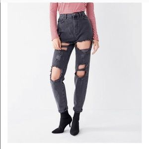 Denim - NWT BDG High Waisted Distressed Black Jeans